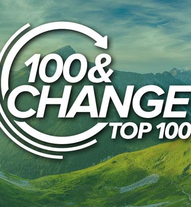 100 & change logo