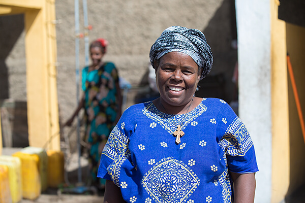 smiling afrian woman