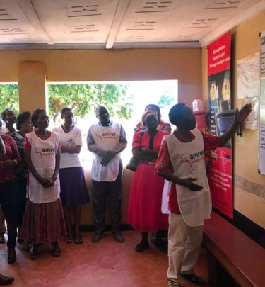 community health worker teaching