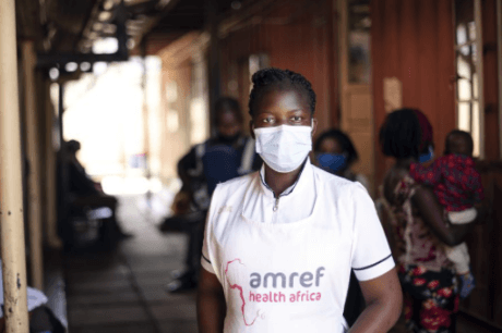 Dorcas Nabwire, she is a Ante-Natal Care nurse and a midwife at Amref Kibera Health Clinic