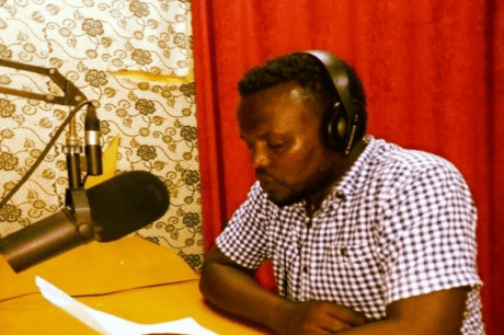 Tamiru Belihu, one of the journalists working in a radio and television media agency in Arbaminch town.